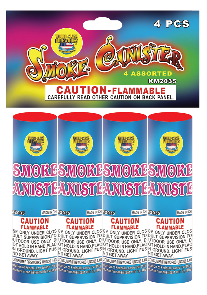 Four Assorted Smoke Bombs, Fireworks, Stores, Store