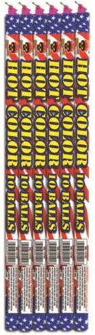 10 ball roman candle hot color